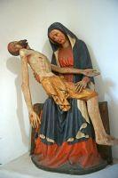 10-gefasste-Vespergruppe-aus-Holz---Anfang-15.-Jahrhundert