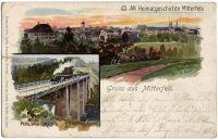 P05-Alt-Mitterfels-um-1900-als-Hauptmotiv---Ausschnitt-Eisenbahnbruecke