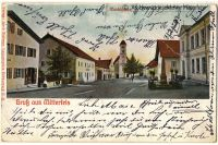 P07-Gruss-aus-Mitterfels-um-1903---Dorfplatz