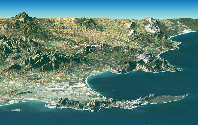06 02 satellite image of cape peninsula