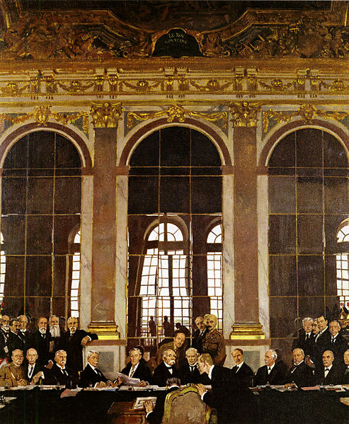 28 01 william orpen - the signing of peace in the hall of mirrors versailles
