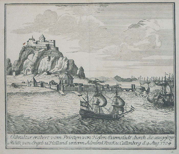 04 05 decorative scenes of the war of the spanish succession - gibraltar 1704