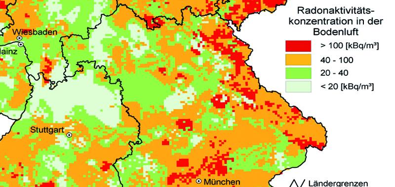 radon karte bayern Radon Bayern Karte  |  Ausreise Info radon karte bayern