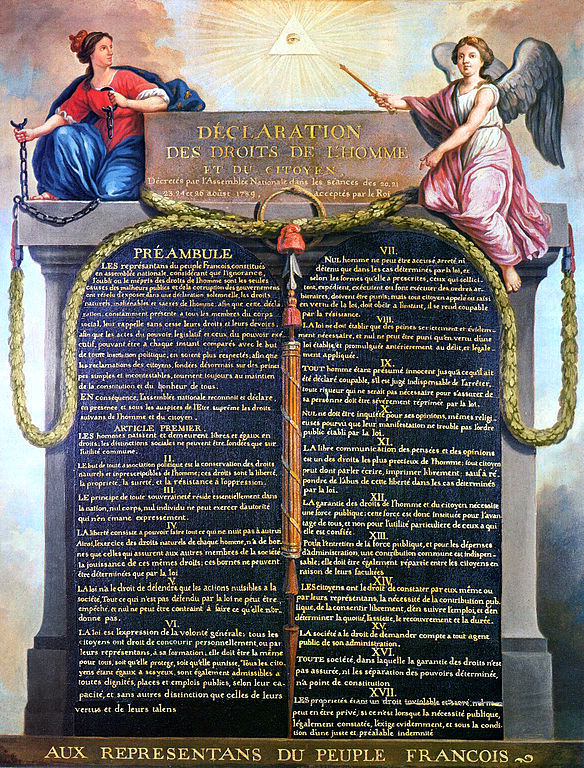 21 01 declaration of the rights of man and of the citizen in 1789