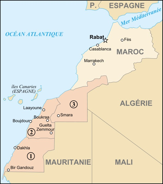 02 01 map of morocco and western sahara-fr svg