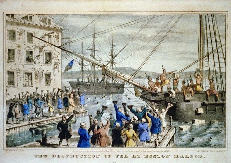 16 01 boston tea party currier colored